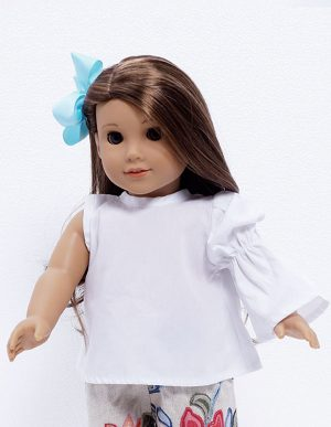TEA PARTY WHITE BLOUSE DOLL
