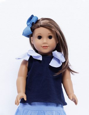 BLUE CANDLE BLOUSE DOLL