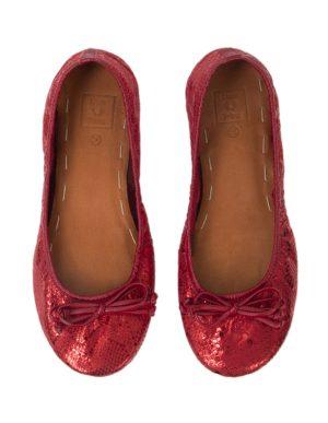 BALLET FLATS RED 38T