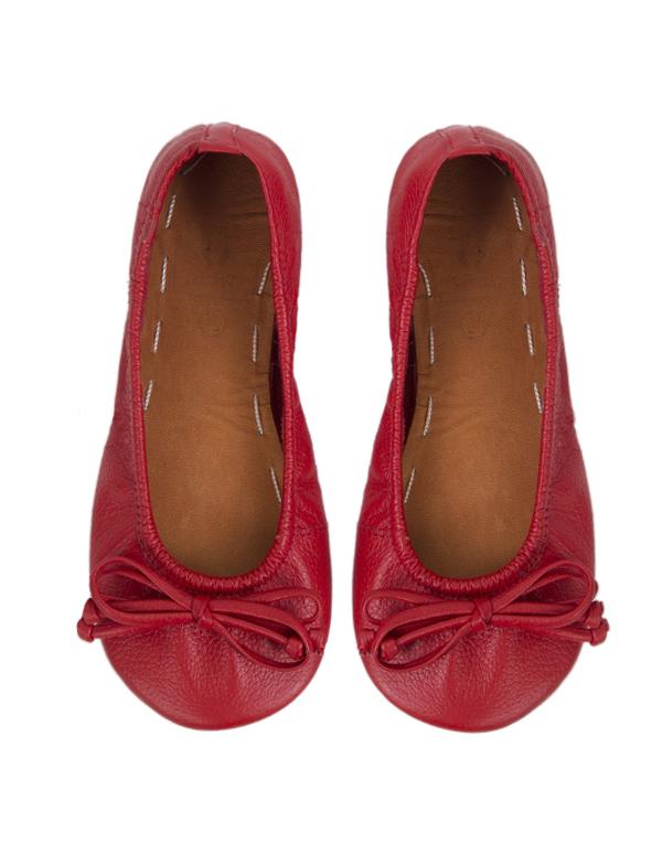 BALLET FLATS RED 21T