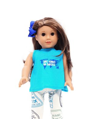 NO BORDERS TSHIRT DOLL