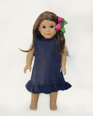 INDIGO DYE DRESS DOLL