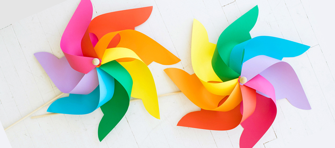 Ringletes Arcoíris Rainbow Pinwheels