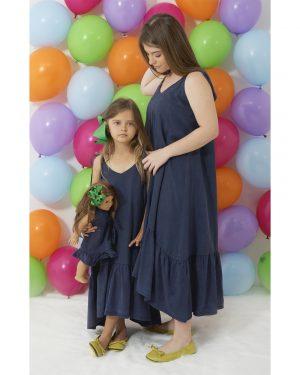 INDIGO DYE DRESS MOM